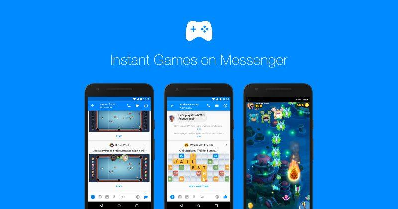 Messenger's Instant Games roll out to reclaim Facebook's crown