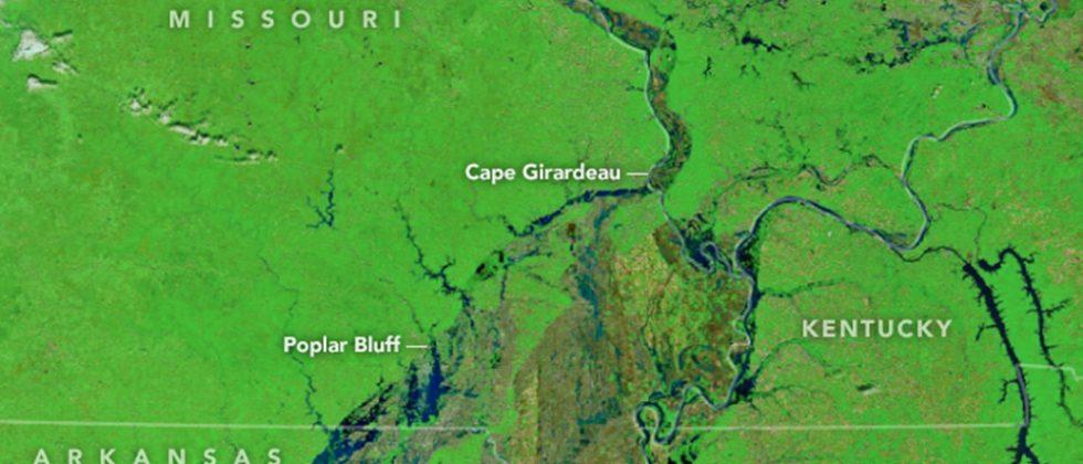 NASA space photo shows stunning green Earth after Midwest floods