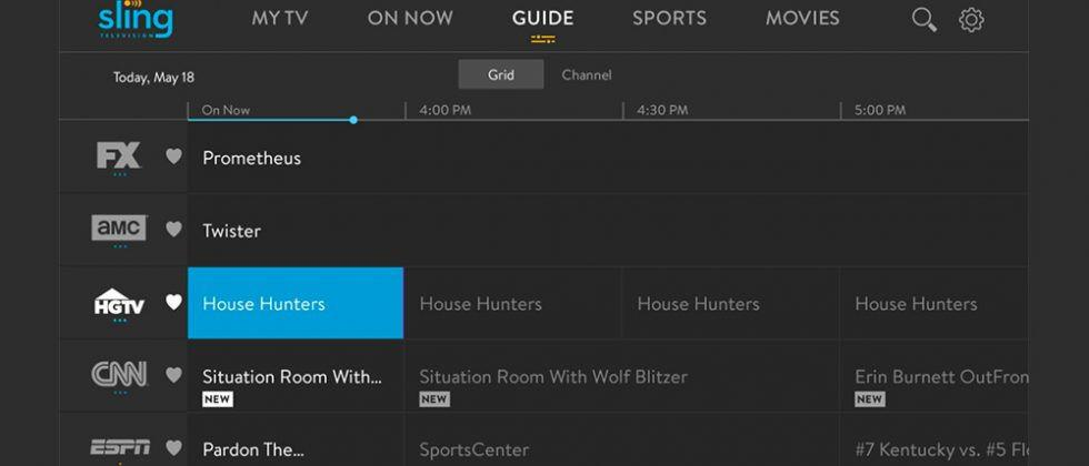 Sling TV begins rolling out traditional 'grid' channel guide