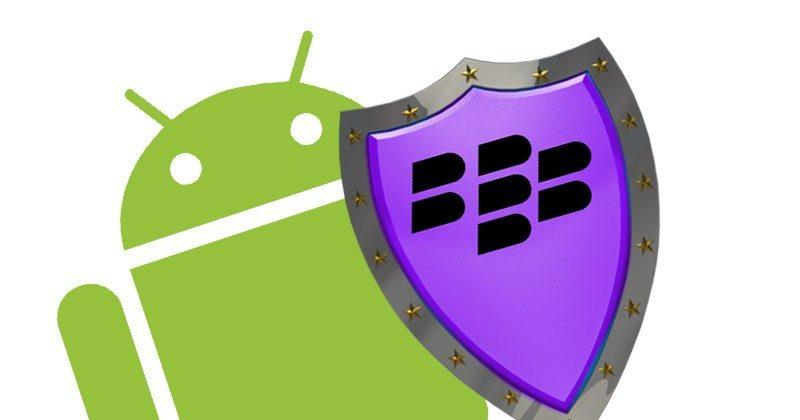 BlackBerry Manager lets you install BlackBerry apps on any Android device