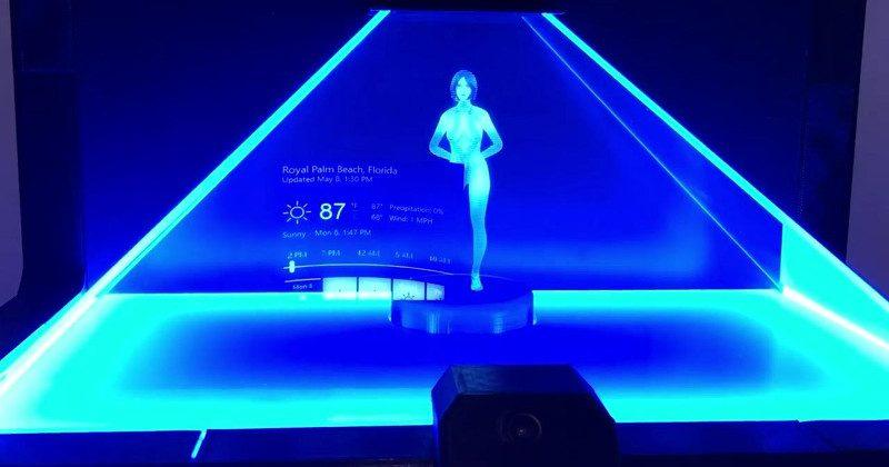 Working Cortana hologram concept brings fantasy to life