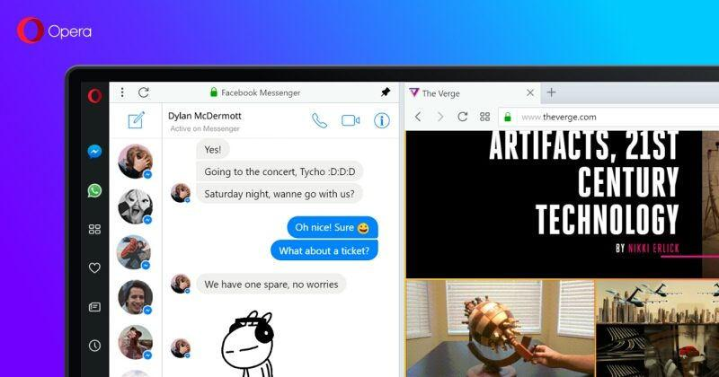 Opera is Reborn with built-in chatting