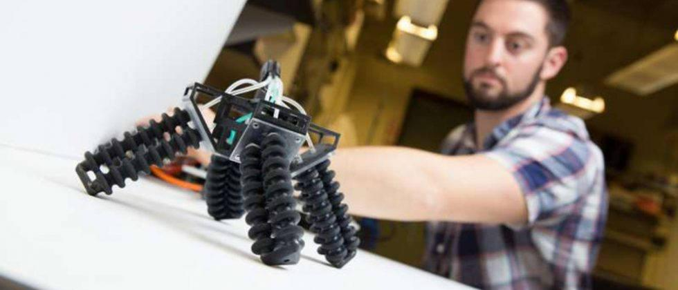 This 'soft' 3D-printed robot can walk on rough surfaces