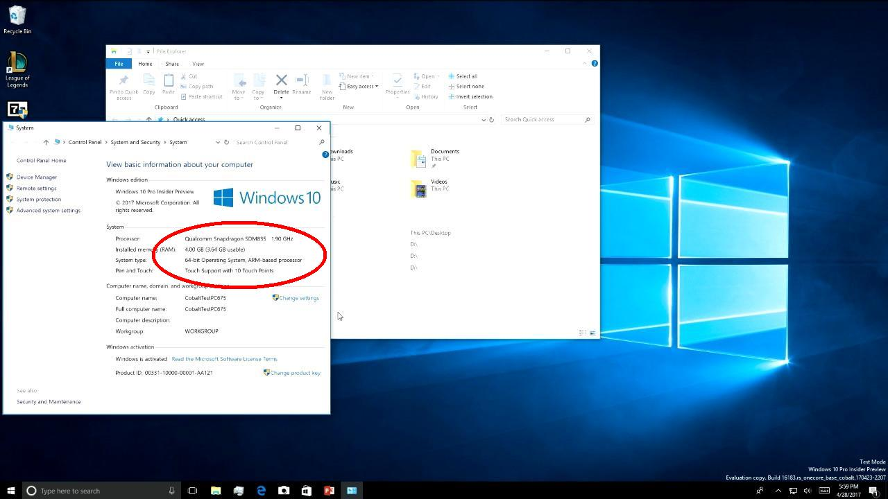 Windows 10 on ARM will run win32/x86 programs without a hitch