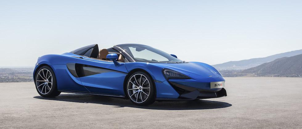 2018 McLaren 570S Spider opens roof on 204mph British supercar