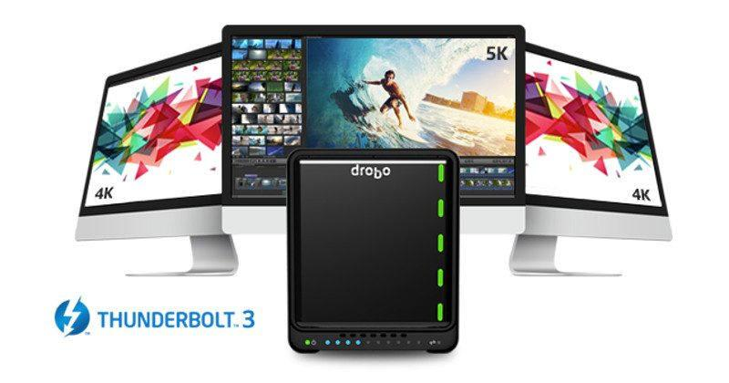 Drobo 5D3 storage touts Thunderbolt 3 for performance boost