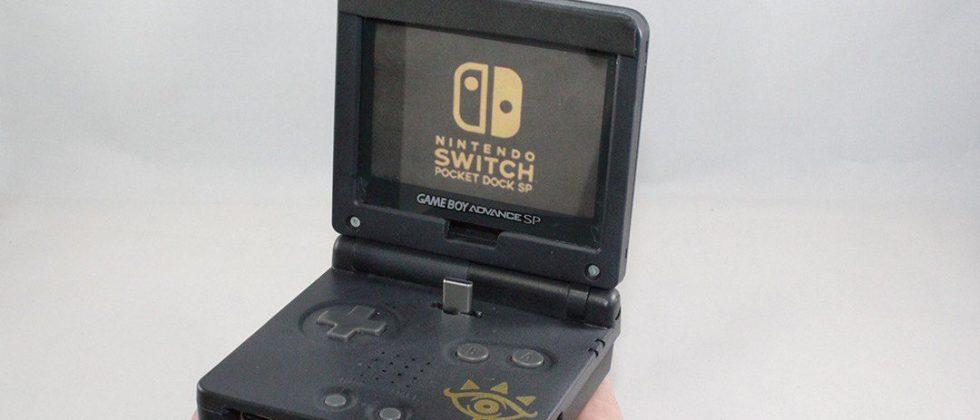 Nintendo Switch dock built from old Game Boy Advance SP