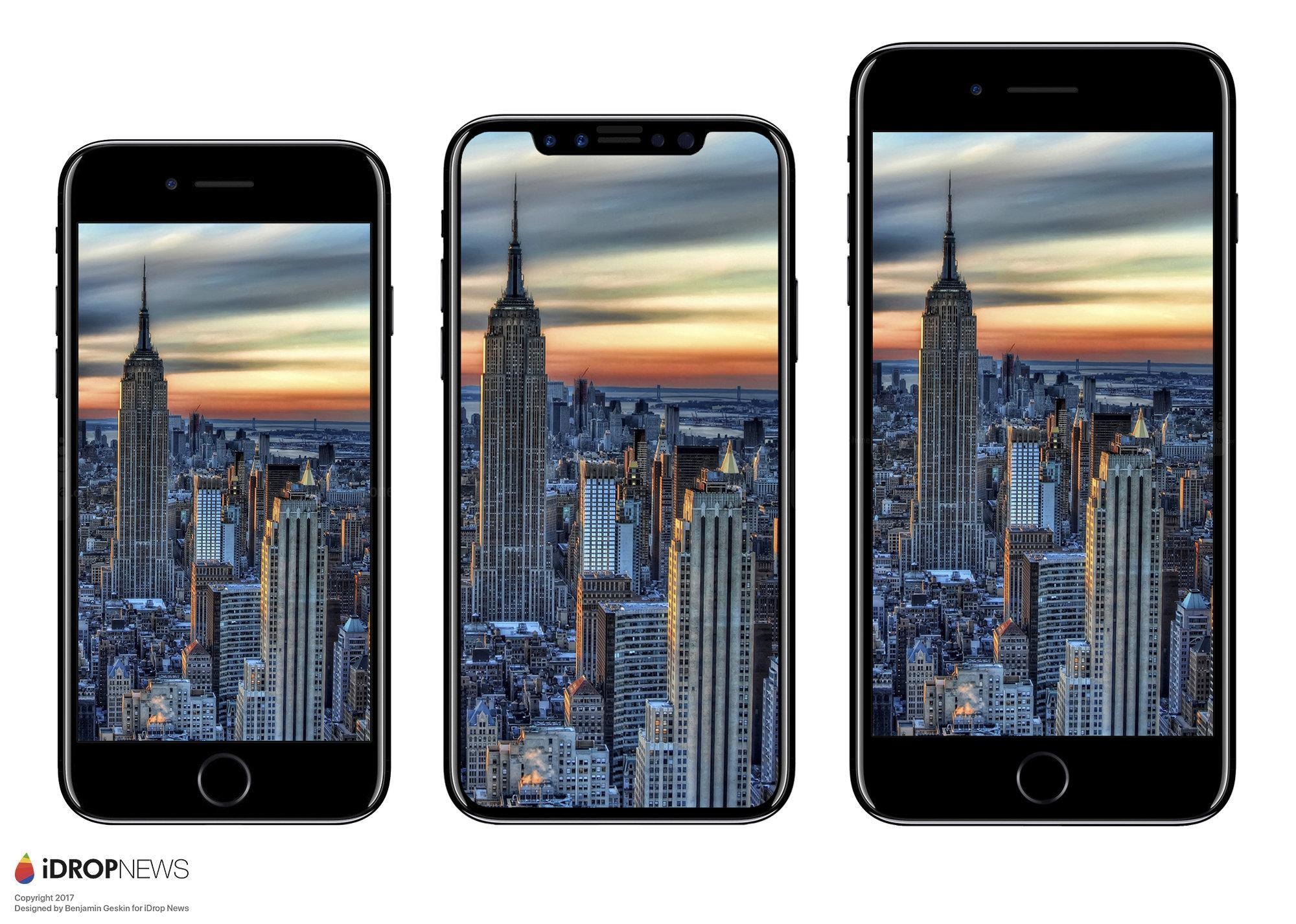 iPhone 8 VS 7 the big size change , SlashGear