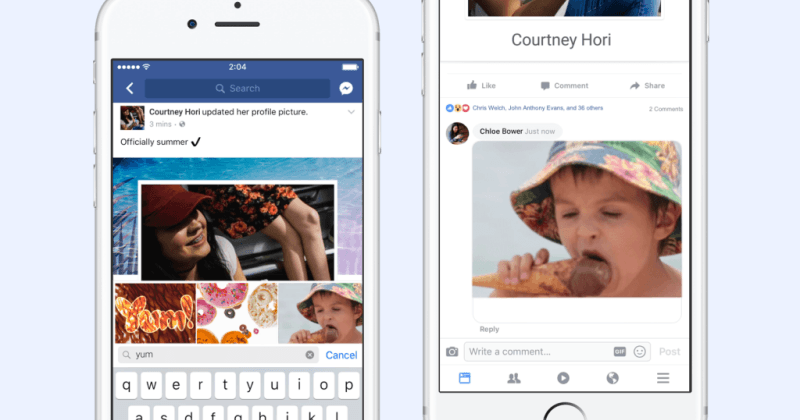 Facebook marks GIF's 30th birthday with comments GIFs, new GIFs