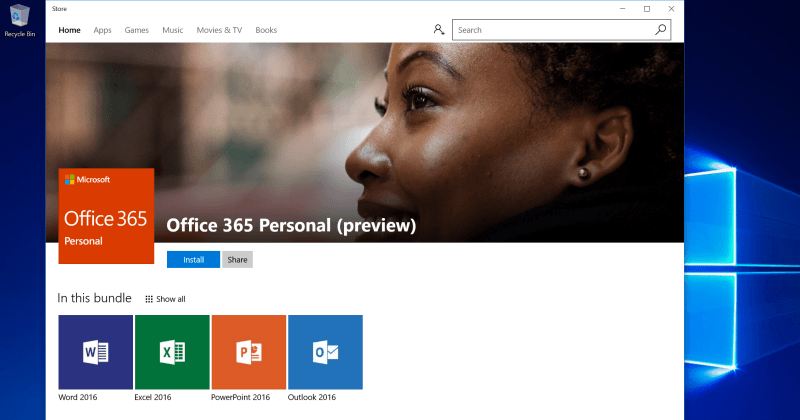 Microsoft Office desktop version is now on the Windows Store