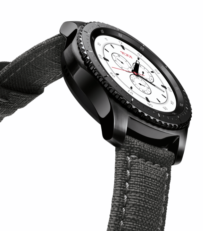 Gear S3 Frontier Special Edition sports TUMI band and watch
