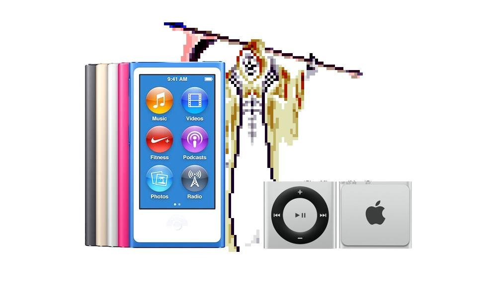 Apple kills iPod nano and shuffle