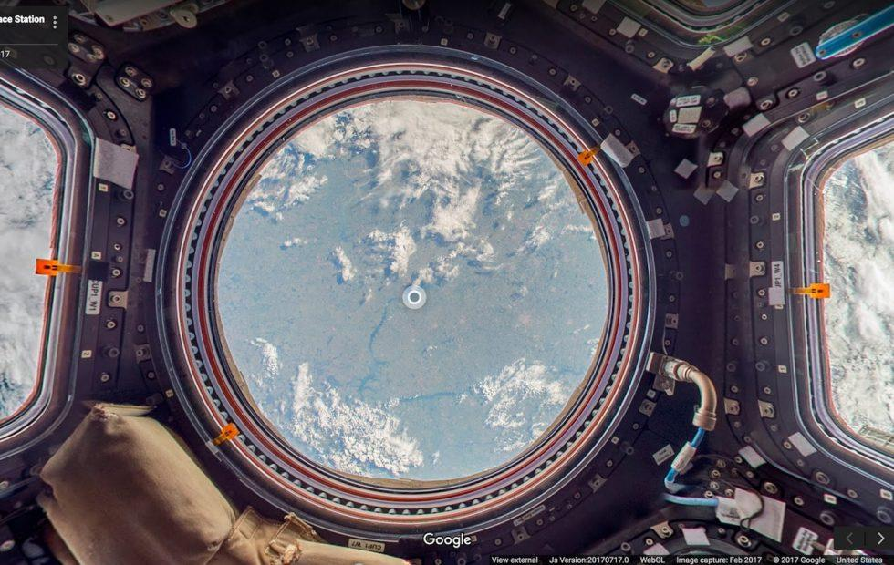 Street View in Space: Google Maps on the International Space Station