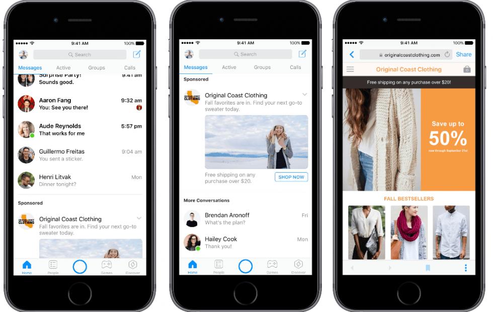 Facebook Messenger ads enter beta testing worldwide