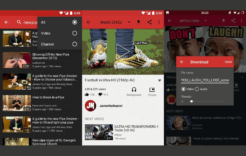 NewPipe – YouTube Android app with more controls and no Google