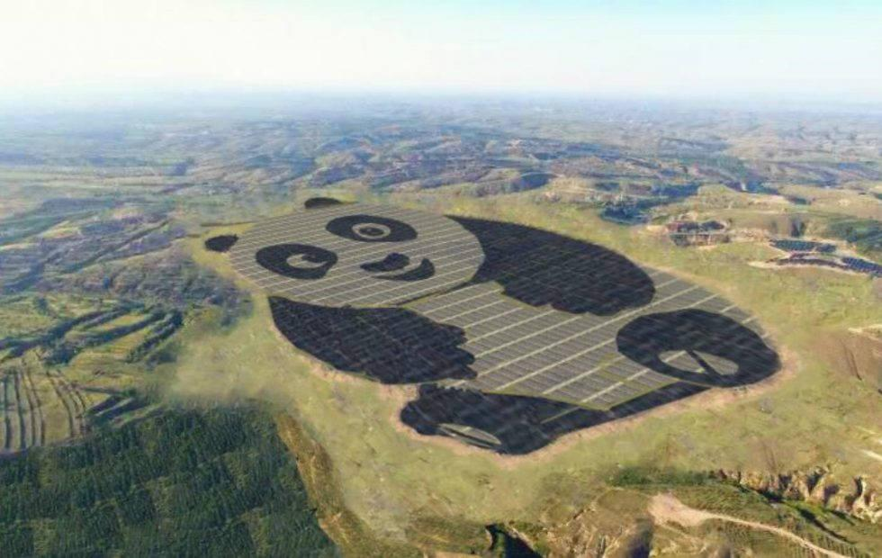 This Chinese solar plant looks like a giant cartoon panda