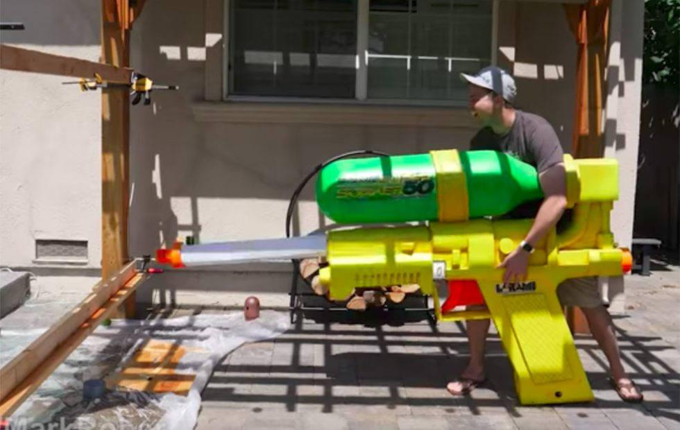 This giant Super Soaker can shoot water at 243MPH