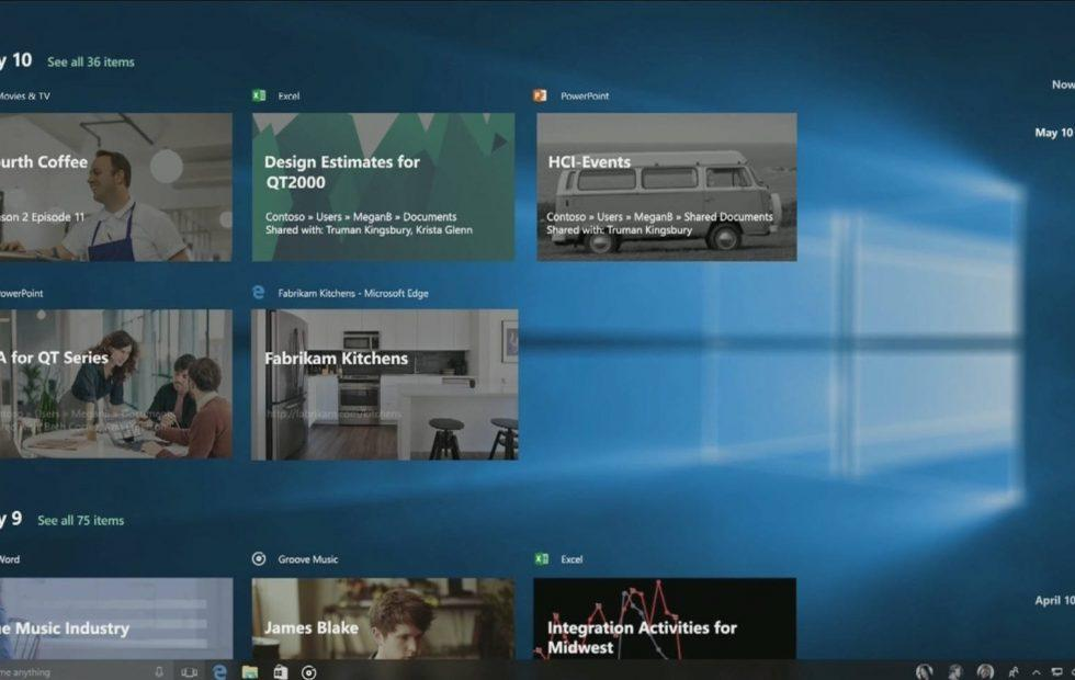 Windows 10 Timeline won't be done in time for Fall Creators Update