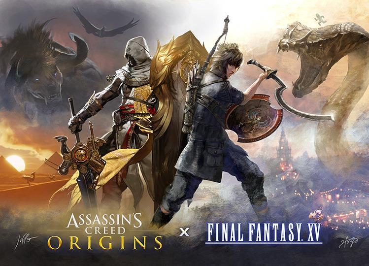 Final Fantasy 15 is getting free Assassin's Creed Origins DLC (yes, really)