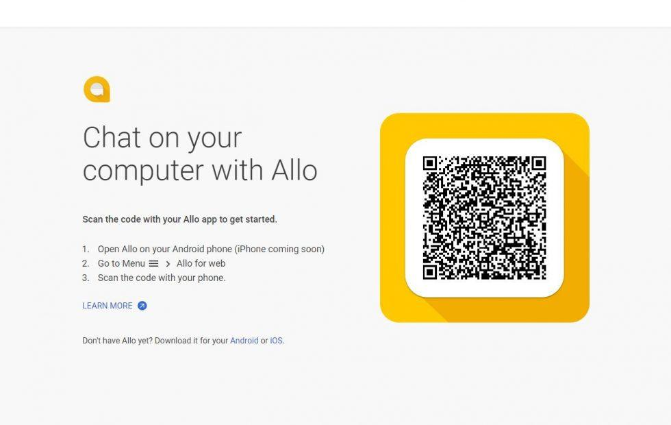 Google Allo finally gets a web app, but it's kind of pointless