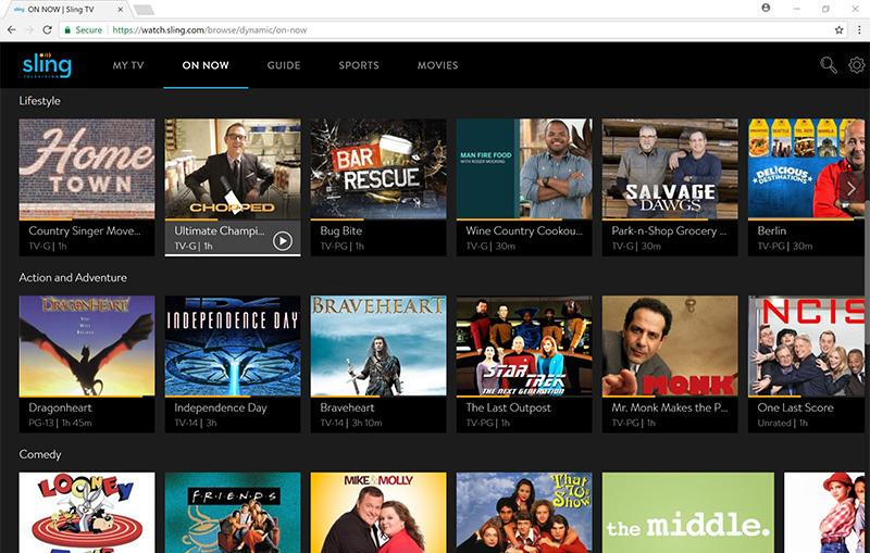 Sling TV streaming in Chrome browser goes live