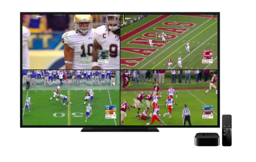 ESPN on Apple TV can now stream four live games at once