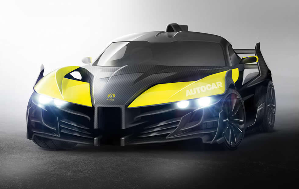 Ariel P40 electric supercar to pack 1180 hp and do 0-100 mph in 3.8 sec