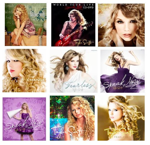 Taylor swift album covers collage - daedalusdrones.com