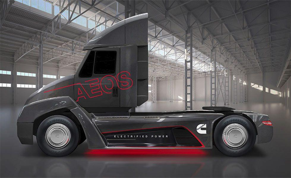 Cummins talks future clean big rig tech including an electric semi with up to 300 mile range