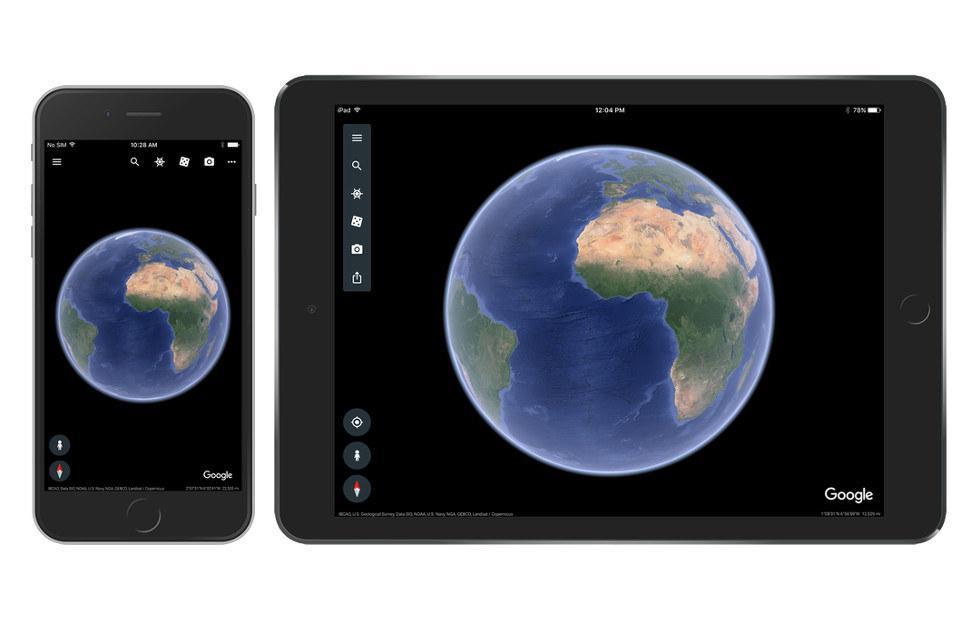Google Earth update arrives on iOS, brings 64-bit version