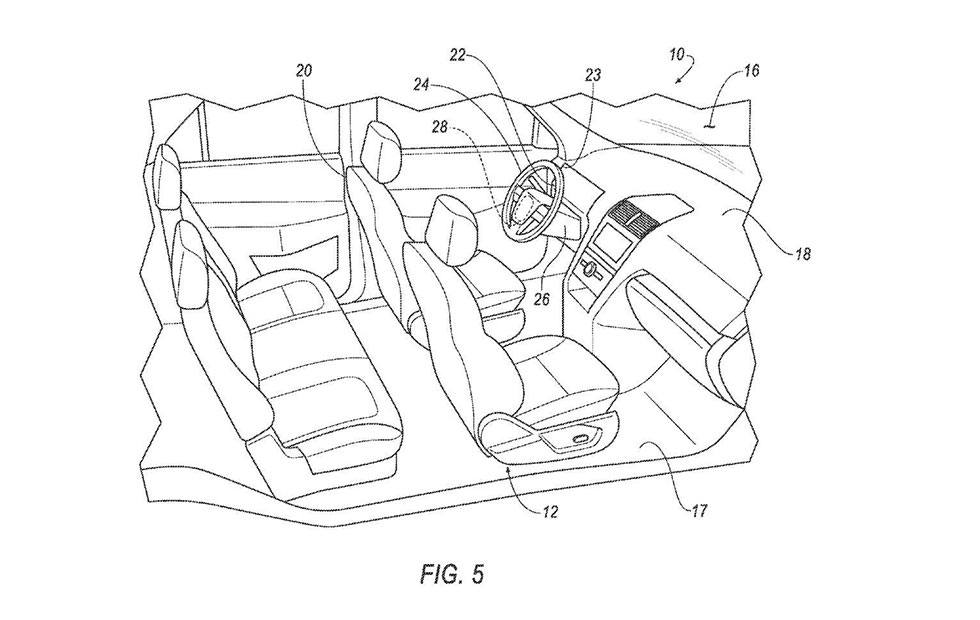 Ford patent shows autonomous auto future with or without steering wheel