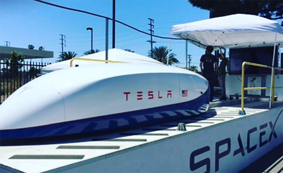 Tesla tests out Hyperloop pusher pod to 220mph