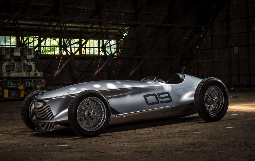 Infiniti reveals 1930s style Prototype 9 EV at Pebble Beach
