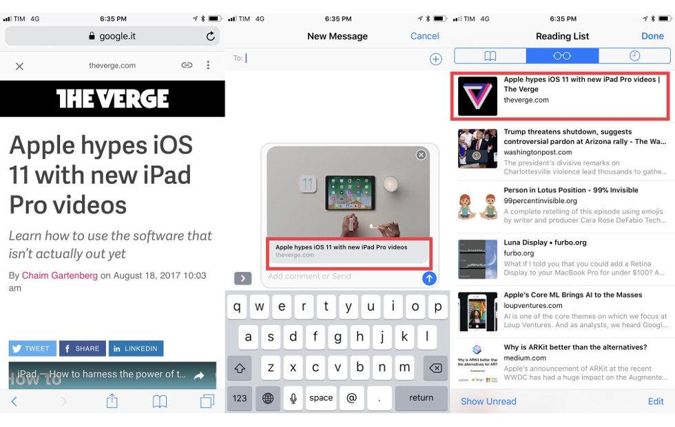 iOS 11 Safari will strip AMP markers when sharing links