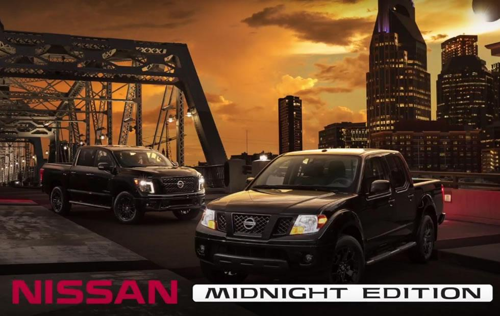 Nissan adds Titan, Titan XD, and Frontier trucks to Midnight Edition line