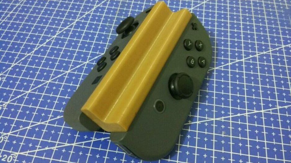 Nintendo Switch 3D printed Joy-Con grip makes play single
