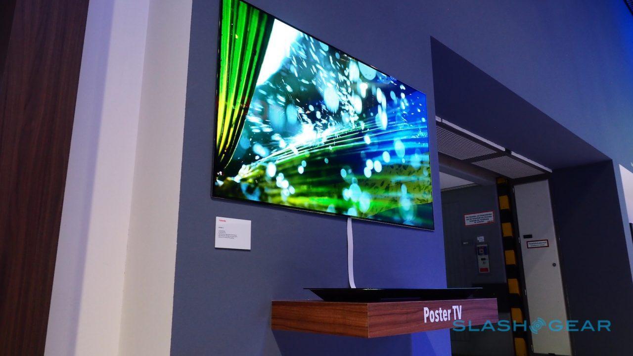 Toshiba S Wall Art Tv Is Another So Thin It S Crazy Set Slashgear