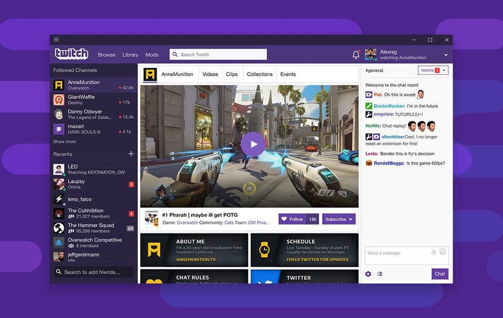 Twitch desktop app is finally out, powerful and cluttered