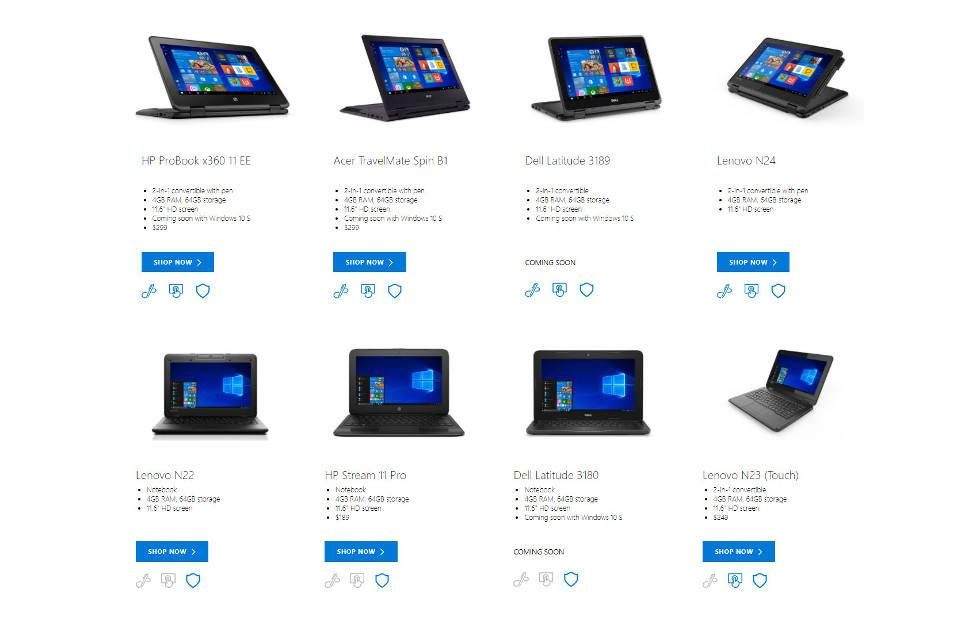 Windows 10 S devices now available, but you can test it too