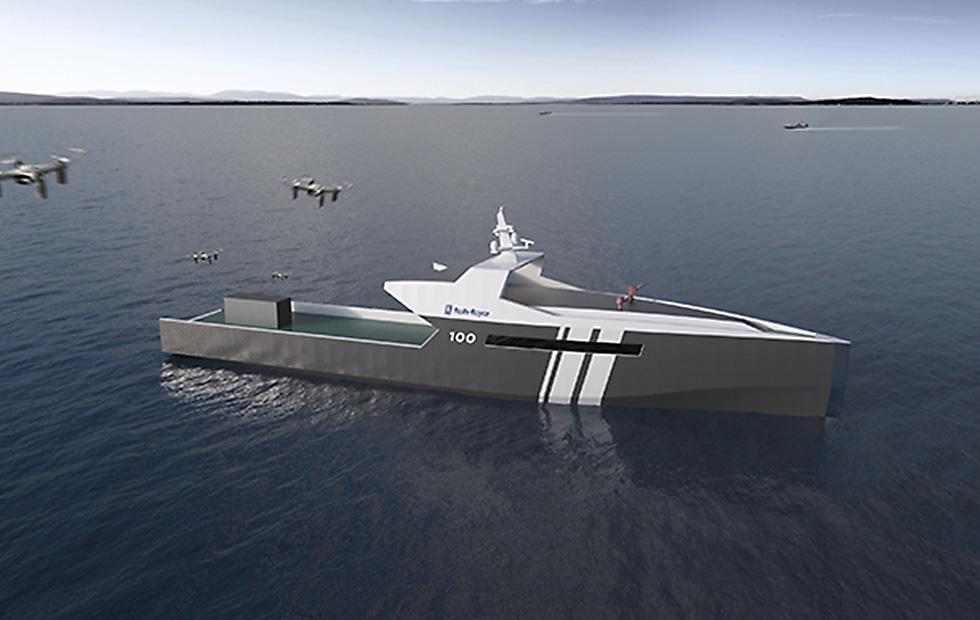 Rolls-Royce details autonomous naval ship: 3,500 nautical miles range