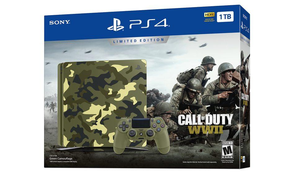Limited Edition Call of Duty: WWII PS4 bundle includes camo console