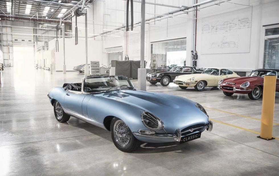 Jaguar E-Type Zero retrofits classic Roadster with EV power