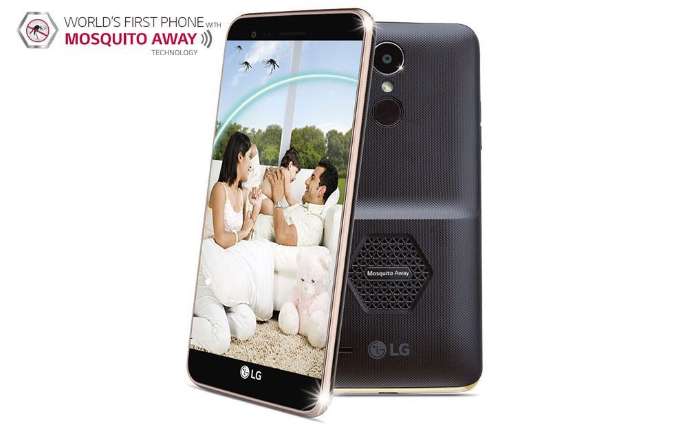 LG K7i phone has a mosquito repellent case