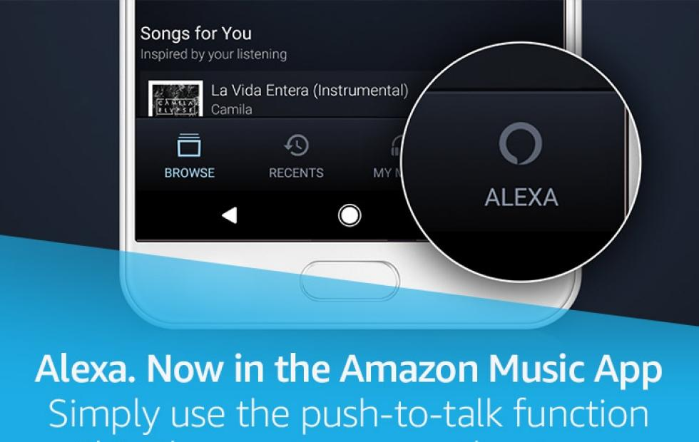 Alexa is now on the Amazon Music mobile app