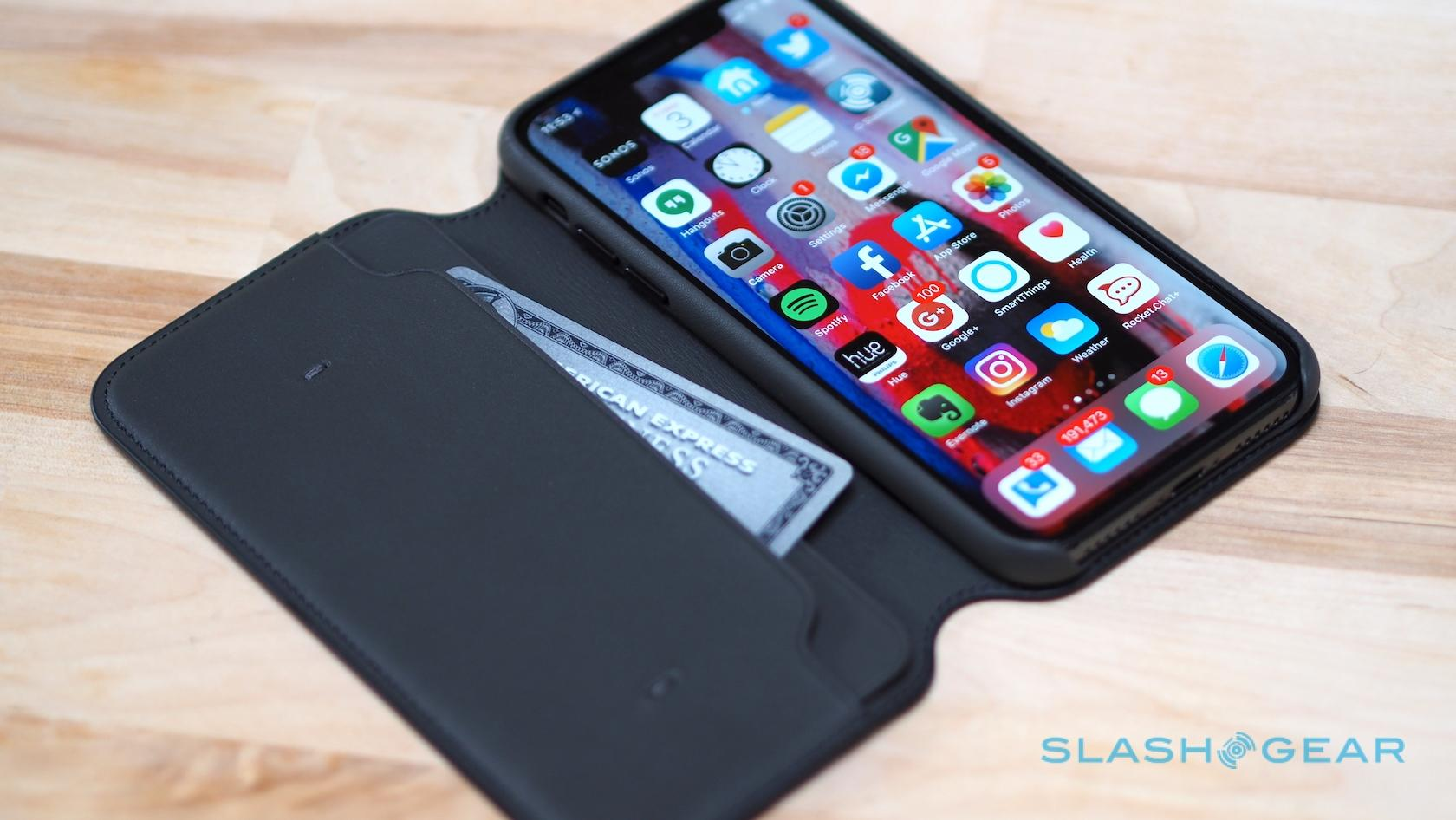 new product 8d601 3064a Apple's iPhone X Leather Folio case is really slick - SlashGear