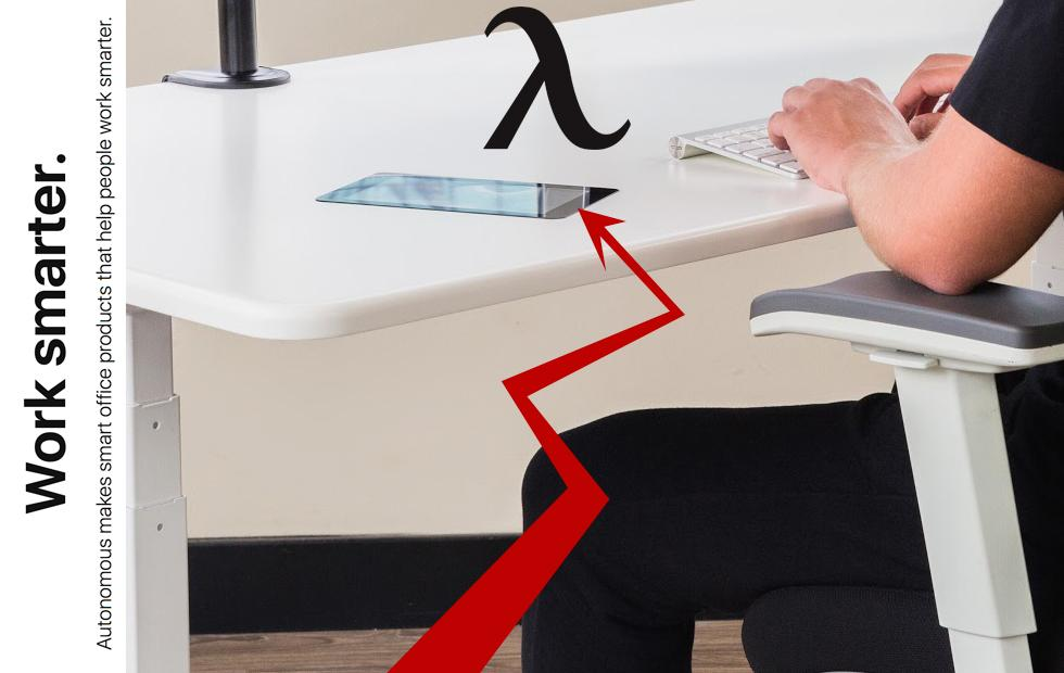 Autonomous Smart Desk 3 has a sideways touchscreen