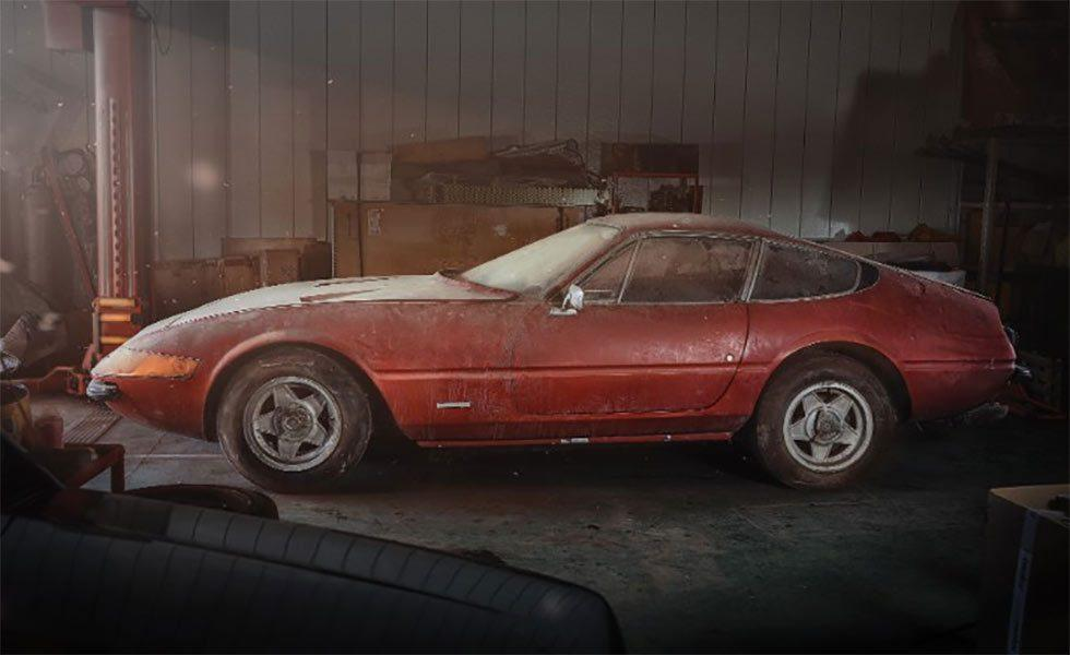 "One-of-a-kind Ferrari 365 GTB/4 ""Daytona"" Sat in Japanese Barn for 40 Years"