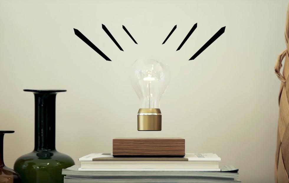This floating lightbulb just went Peak Wireless Charging