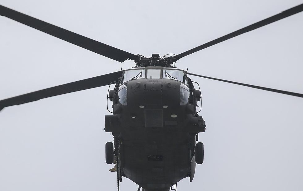 Small drone crashes into US Army Black Hawk helicopter