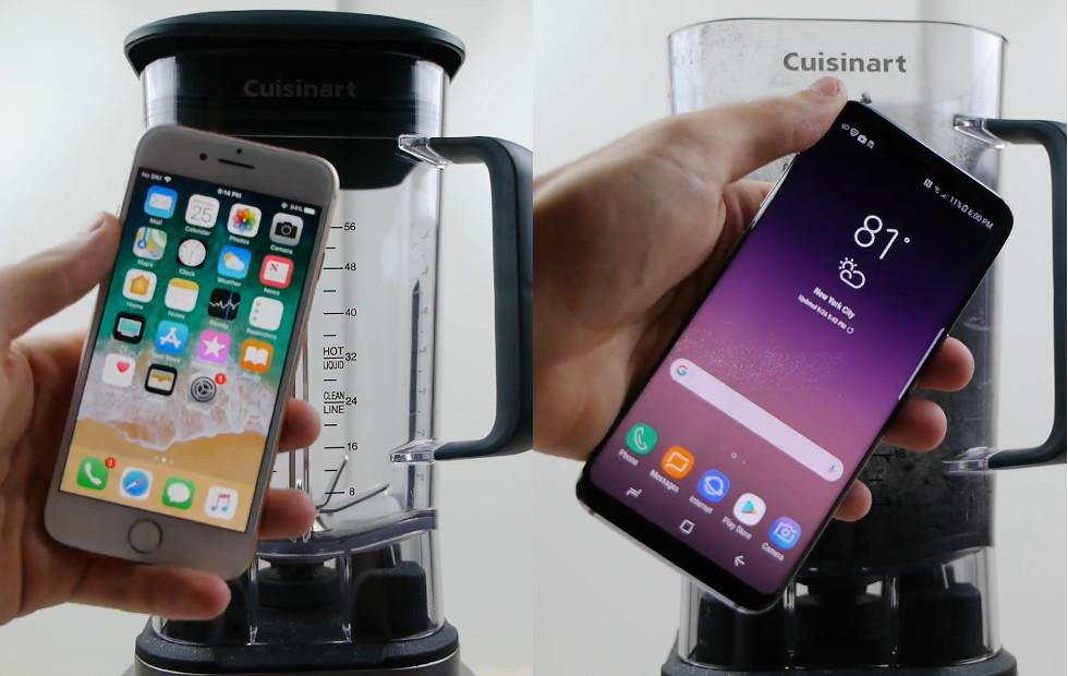 iPhone 8, Galaxy S8 face off in a blender